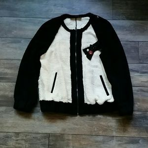 Zara embroidered bomber sz L